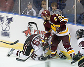 Adam Presizniuk (Union - 29), Mike Montgomery (Duluth - 24) - The University of Minnesota-Duluth Bulldogs defeated the Union College Dutchmen 2-0 in their NCAA East Regional Semi-Final on Friday, March 25, 2011, at Webster Bank Arena at Harbor Yard in Bridgeport, Connecticut.