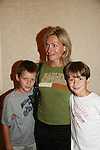 Beth Ehlers and sons Will and Hank attend All My Children Fan Luncheon on September 13, 2009 at the New York Helmsley Hotel, NYC, NY. (Photo by Sue Coflin/Max Photos)