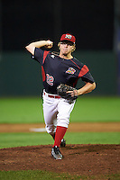 Batavia Muckdogs relief pitcher RJ Peace (22) during a game against the Williamsport Crosscutters on September 2, 2016 at Dwyer Stadium in Batavia, New York.  Williamsport defeated Batavia 9-1. (Mike Janes/Four Seam Images)