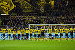 11.03.2018, Signal Iduna Park, Dortmund, GER, 1.FBL, Borussia Dortmund vs Eintracht Frankfurt, <br /> <br /> im Bild | picture shows:<br /> die Mannschaft von Borussia Dortmund l&auml;sst sich nach dem Spiel vor der S&uuml;dtrib&uuml;ne feiern, <br /> <br /> <br /> Foto &copy; nordphoto / Rauch
