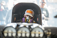 Feb 24, 2019; Chandler, AZ, USA; NHRA funny car driver Matt Hagan during the Arizona Nationals at Wild Horse Pass Motorsports Park. Mandatory Credit: Mark J. Rebilas-USA TODAY Sports