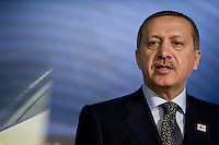 Rome,Italy, November 17, 2009. Il Primo Ministro Turco Recep Tayyip Erdogan durante il suo intervento alla Fao in occasione di un summit mondiale sul cibo.<br /> Turkish Prime Minister Recep Tayyip Erdogan during his speech on the occasion of the World Summit on food Security at Fao (Food and Agriculture Organization of the United Nations) in Rome.