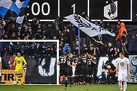 SAN JOSE, CA - MARCH 7: Magnus Eriksson #7 of the San Jose Earthquakes celebrates scoring with teammates during a game between Minnesota United FC and San Jose Earthquakes at Earthquakes Stadium on March 7, 2020 in San Jose, California.