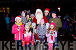 Pictured with Santa in Cahersiveen on Friday were front l-r; Caoimhe Hurley, Sorcha Hurley, Aodhán O'Sullivan, Clodagh O'Sullivan, Aoifa Hurley, back l-r; Muireann O'Sullivan, Martina O'Sullivan, Siobhan Hurley, Santa, Tomas Hurley & Tony O'Sullivan.