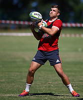 DURBAN, SOUTH AFRICA -Monday February 18th: Michael Collins in action during the Blues Training at Northwood School Durban North, on February 18th, 2019 in Durban, South Africa. Photo by Steve Haag / stevehaagsports.com