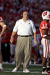 MADISON, WI - SEPTEMBER 25: Head coach Barry Alvarez of the Wisconsin Badgers during the game against the Penn State Nittany Lions at Camp Randall Stadium in Madison, Wisconsin on September 25, 2004. The Badgers beat the Nittany Lions 16-3. (Photo by David Stluka)