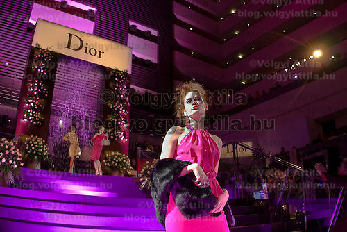 Models present creations from Dior durng a fashion show organized by Luxury Club, held in Hotel Sofitel, Budapest, Hungary. Thursday, 26. November 2009. ATTILA VOLGYI