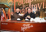 Jimmy Buffett and James Nederlander Jr. offically opens up the Box Office for his Broadway Musical  'Escape To Margaritaville' at the Marquis Theatre on December 8, 2017 in New York City.
