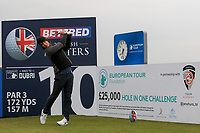 Guido Migliozzi (ITA) on the 10th tee during the Pro-Am of the Betfred British Masters 2019 at Hillside Golf Club, Southport, Lancashire, England. 08/05/19<br /> <br /> Picture: Thos Caffrey / Golffile<br /> <br /> All photos usage must carry mandatory copyright credit (&copy; Golffile | Thos Caffrey)