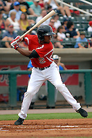 Lowell Spinners outfielder Manuel Margot #2 during a game versus the Hudson Valley Renegades at LeLacheur Park in Lowell, Massachusetts on August 18, 2013.  (Ken Babbitt/Four Seam Images)