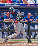 8 March 2015: Boston Red Sox infielder Jemile Weeks (center) in Spring Training action against the New York Mets at Tradition Field in Port St. Lucie, Florida. The Mets fell to the Red Sox 6-3 in Grapefruit League play. Mandatory Credit: Ed Wolfstein Photo *** RAW (NEF) Image File Available ***
