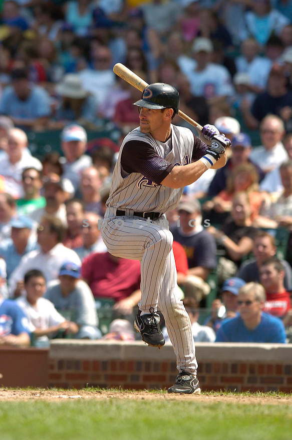 Luis Gonzalez, of the Arizona Diamonbacks, in action against the Chicago Cubs on August 3, 2006 in Chicago...Dbacks win 10-2..David Durochik / SportPics