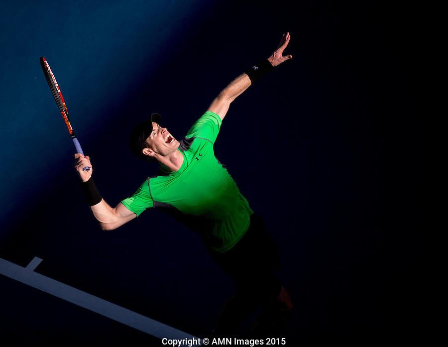 Andy Murray (GBR)<br /> <br /> Tennis - Australian Open 2015 - Grand Slam -  Melbourne Park - Melbourne - Victoria - Australia  - 23 January 2015. <br /> &copy; AMN IMAGES