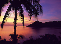 Thailand, island Ko Pha Ngan, sunrise at Thong Nai Pan Yai bay