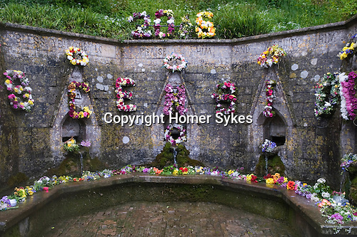 Well Dressing Bisley Gloucestershire UK 2015