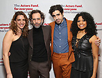 Eva Price, Daniel Fish, Rebecca Naomi Jones and Damon Daunno attends The Actors Fund Annual Gala at Marriott Marquis on April 29, 2019  in New York City.