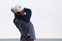 Shubhankar Sharma (IND) on the 5th tee during Round 1 of the Betfred British Masters 2019 at Hillside Golf Club, Southport, Lancashire, England. 09/05/19<br /> <br /> Picture: Thos Caffrey / Golffile<br /> <br /> All photos usage must carry mandatory copyright credit (© Golffile | Thos Caffrey)