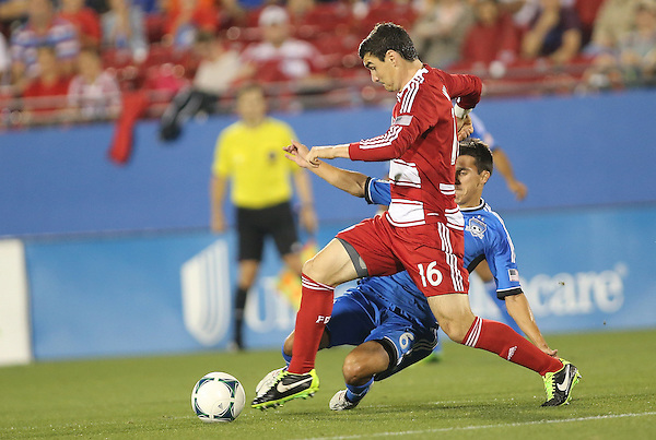 FRISCO, TX: Bobby Warshaw #16 of FC Dallas in action against the San Jose Earthquakes at FC Dallas Stadium in Frisco, Texas on May 25,2013 (Photo Rick Yeatts)