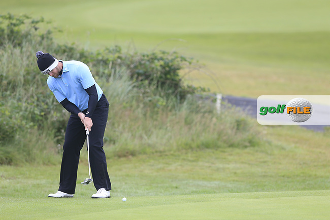 Peter O'Keeffe (Douglas ) during the semi final of the  North of Ireland Amateur Championship, Portstewart Golf Club, Portstewart, Antrim,  Ireland. 12/07/2019<br /> Picture: Golffile   Fran Caffrey<br /> <br /> <br /> All photo usage must carry mandatory copyright credit (© Golffile   Fran Caffrey)