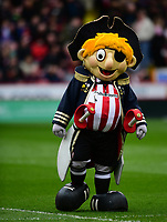Sheffield United mascot Captain Blade<br /> <br /> Photographer Chris Vaughan/CameraSport<br /> <br /> The EFL Sky Bet League One - Sheffield United v Charlton Athletic - Saturday 18th March 2017 - Bramall Lane - Sheffield<br /> <br /> World Copyright &copy; 2017 CameraSport. All rights reserved. 43 Linden Ave. Countesthorpe. Leicester. England. LE8 5PG - Tel: +44 (0) 116 277 4147 - admin@camerasport.com - www.camerasport.com