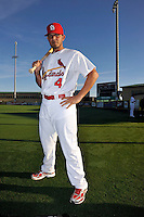 Mar 01, 2010; Jupiter, FL, USA; St. Louis Cardinals catcher Yadier Molina (4) during  photoday at Roger Dean Stadium. Mandatory Credit: Tomasso De Rosa/ Four Seam Images