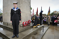 2017 11 11 Armistice Day to mark remembrance at the Cenotaph, Swansea, Wales, UK