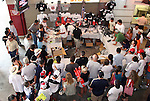 09 August 2009: Fans crowded around the souvenir stand. Real Madrid of Spain's La Liga defeated DC United of Major League Soccer 3-0 at FedEx Field in Landover, Maryland in an international club friendly soccer match.