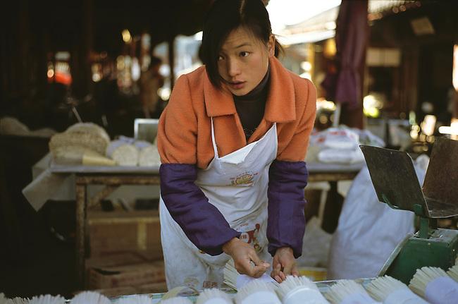 Lijiang traditional market, Lijang City, China