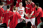 March 3, 2010: Wisconsin Badgers guard Jason Bohannon (12) is introduced prior to a Big Ten Conference NCAA basketball game against the Iowa Hawkeyes at the Kohl Center on March 3, 2010 in Madison, Wisconsin. The Badgers won 67-40. (Photo by David Stluka)