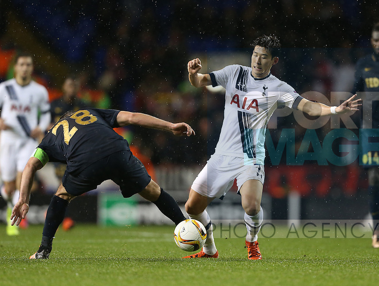 Tottenham's Heung-Min Son in action<br /> <br /> UEFA Europa League - Tottenham Hotspur v Monaco - White Hart Lane - England -10th December 2015 - Picture David Klein/Sportimage