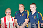 FAMILY NIGHT: The McLarnon family part of the John Mitchels team competing in the Coiste Tra? Li? Scor at Kerins O'Rahilly clubhouse on Thursday l-r: Anglea, Barney and Aaron McLarnon.