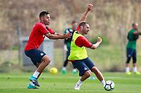 Getafe CF's Bruno Gonzalez (l) and Medhi Lacen during training session. August 1,2017.(ALTERPHOTOS/Acero) /NortePhoto.com