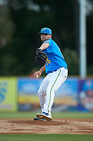 Myrtle Beach Pelicans starting pitcher Alex Lange (35) in action against the Winston-Salem Dash at TicketReturn.com Field on May 16, 2019 in Myrtle Beach, South Carolina. The Dash defeated the Pelicans 6-0. (Brian Westerholt/Four Seam Images)