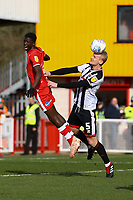 Ludvig Öhman of Grimsby Town and Panutche Camara of Crawley Town during Crawley Town vs Grimsby Town, Sky Bet EFL League 2 Football at Broadfield Stadium on 9th March 2019