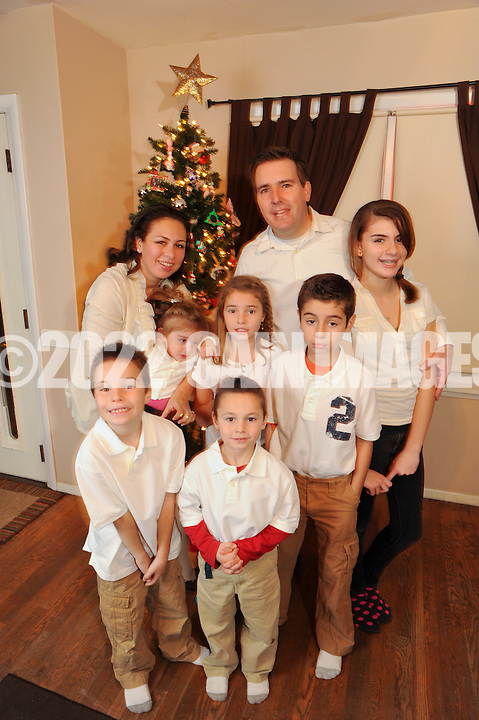 GLENSIDE, PA - DECEMBER 10:  Prado family photographed December 10, 2011 in Glenside, Pennsylvania. (Photo by William Thomas Cain/cainimages.com)