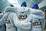 INDIANAPOLIS, IN - MAY 14: UCLA huddles together prior to the Division I Women's Water Polo Championship against Stanford University held at the IU Natatorium-IUPUI Campus on May 14, 2017 in Indianapolis, Indiana. Stanford edges UCLA, 8-7, to win fifth women's water polo title in the past seven years. (Photo by Joe Robbins/NCAA Photos/NCAA Photos via Getty Images)