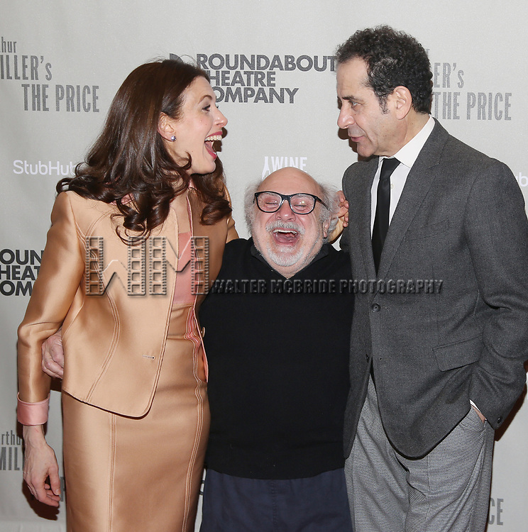 "Jessica Hecht, Danny DeVito and Tony Shalhoub attends the  Broadway Opening Night performance After Party for the Roundabout Theatre Production of ""The Price"" at the American Airlines TheatreTheatre on March 16, 2017 in New York City."