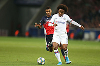 Reinildo Mandava of Lille OSC and Willian of Chelsea during Lille OSC vs Chelsea, UEFA Champions League Football at Stade Pierre-Mauroy on 2nd October 2019