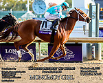 November 3, 2018: Monomoy Girl #11, ridden by Florent Geroux, wins the Longines Breeders' Cup Distaff on Breeders' Cup World Championship Saturday at Churchill Downs on November 3, 2018 in Louisville, Kentucky. Candice Chavez/Eclipse Sportswire/CSM
