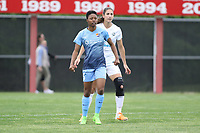 Piscataway, NJ - Sunday April 30, 2017: Yael Averbuch, Maya Hayes during a regular season National Women's Soccer League (NWSL) match between Sky Blue FC and FC Kansas City at Yurcak Field.