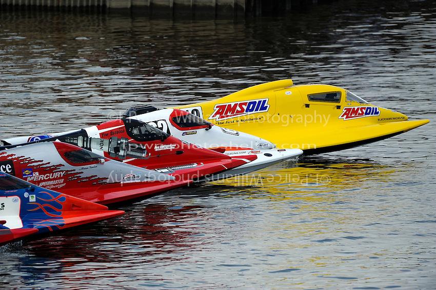 Terry Rinker (#10), Chris Fairchild (#62), Tim Seebold (#16), Brian Venton (#17) and Jose Mendana, Jr. (#21) race away from the start dock.   (Formula 1/F1/Champ class)