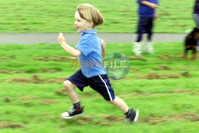 Gerard Harding running to the Finish Line to win the U/6 race in Yellowbatter..Picture Fran Caffrey Newsfile...This Picture is sent to you by:..Newsfile Ltd.The View, Millmount Abbey, Drogheda, Co Louth, Ireland..Tel: +353419871240.Fax: +353419871260.GSM: +353862500958.ISDN: +353419871010.email: pictures@newsfile.ie.www.newsfile.ie