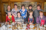 Xmas Reunion Party: Former employees of NeoData, Newcastlewest  pictured at their annual reunion at Leen's Hotel on Saturday night last. Front : Mary Buston, Ita Angland, Noreen O'Callaghan & Margaret Foley. Back : Mary O'Leary, Marian Reidy, Margaret Sheehan, Madeline Dillon & Breda Noonan.