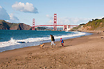Baker Beach, Golden Gate Bridge, San Francisco, California, USA.  Photo copyright Lee Foster.  Photo # california108639