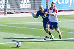 Pepe Reina, Gerard Delufeu during training of the spanish national football team in the city of football of Las Rozas in Madrid, Spain. August 30, 2017. (ALTERPHOTOS/Rodrigo Jimenez)