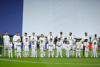 Real Madrid´s players before 2015-16 La Liga match between Real Madrid and Barcelona at Santiago Bernabeu stadium in Madrid, Spain. November 21, 2015. (ALTERPHOTOS/Victor Blanco) /NortePhoto
