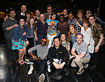 """Jill Abramovitz with ensemble cast during the Broadway Opening Night Actors' Equity Legacy Robe Ceremony honoring Jill Abramovitz for """"Beetlejuice"""" at The Wintergarden on April 25, 2019  in New York City."""
