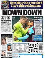 Daily Mail - 09-Apr-2018 - 'Gripping: Evra hugs Hart after his superb display' - Photo by Rob Newell (Camerasport via Getty Images)