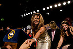 California Governor Arnold Schwarzenegger's wife Maria Shriver greets supporters during a GOP victory party at the Beverly Hilton in Beverly Hills, CA on Tuesday, November 7, 2006.