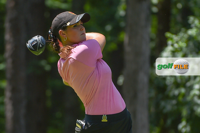 Olivia Mahaffey (a)(NIR) watches her tee shot on 2 during round 1 of the U.S. Women's Open Championship, Shoal Creek Country Club, at Birmingham, Alabama, USA. 5/31/2018.<br /> Picture: Golffile | Ken Murray<br /> <br /> All photo usage must carry mandatory copyright credit (© Golffile | Ken Murray)